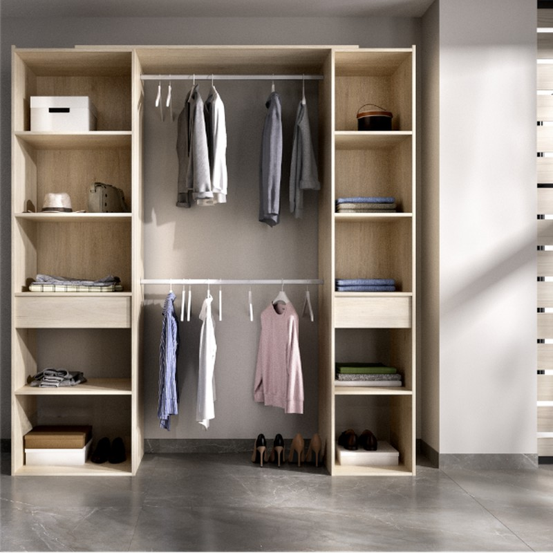 Natural Wardrobe Kit With 2 Drawers 200 Suit Bricowork Online Hardware Diy And Garden